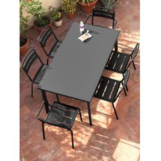 Star T - Emu table made of metal, for garden, square or rectangular top