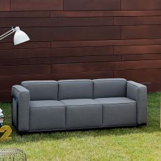 Cocktail 3P - Design 3 seater Sofa with metal structure, available in different finishes