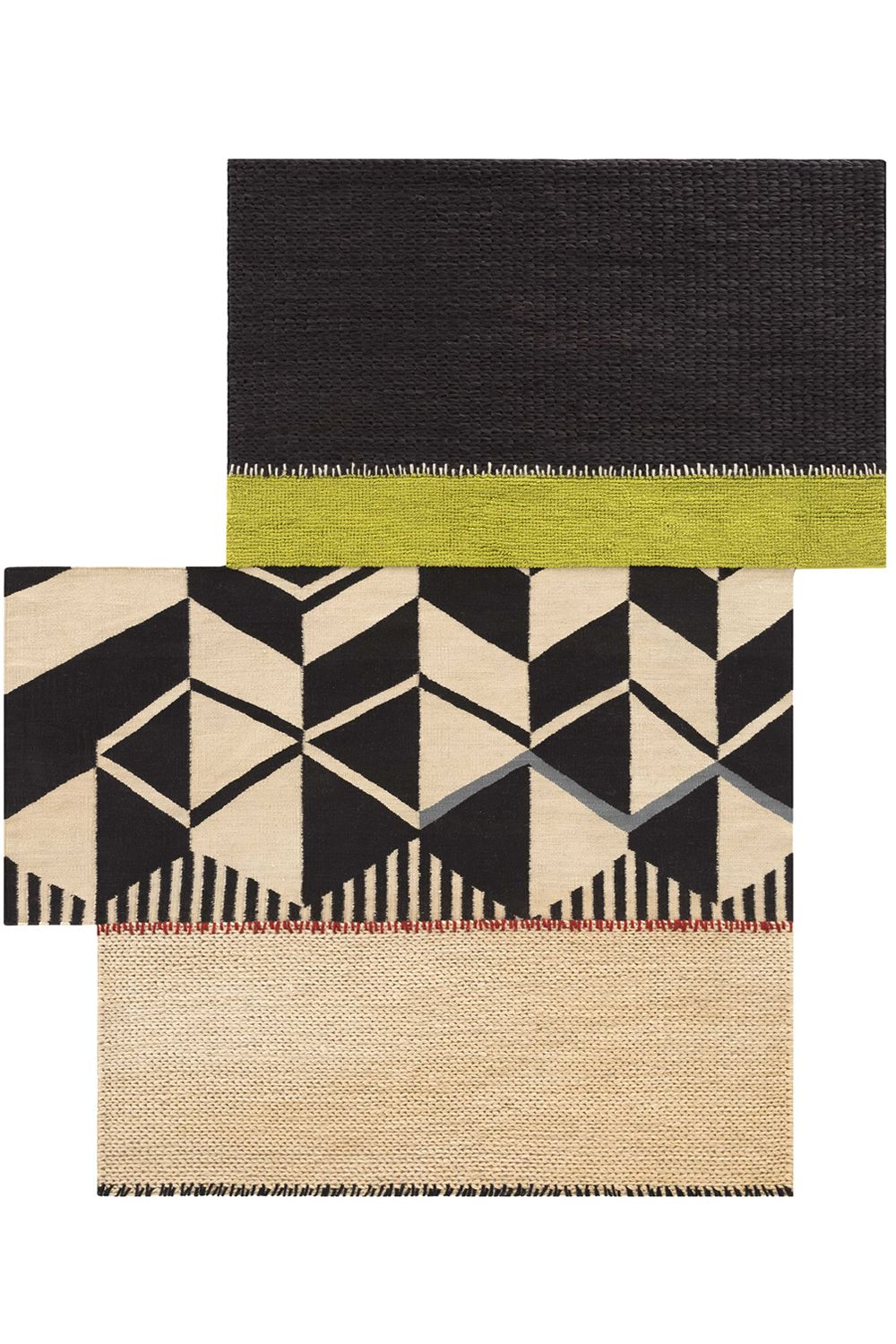Desig rug in jute and wool, available in different dimensions