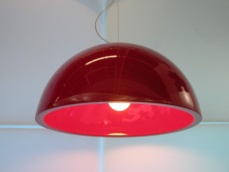 Polyethylene lamp, glossy flame red version (on request)