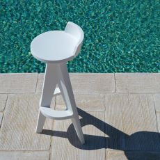 Oxford SG - High stool made of technopolymer, different colours available, also for outdoor, seat height 75 cm