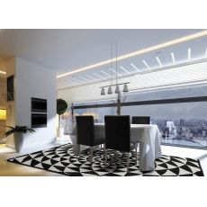Biancaneve - Modern carpet, black and white pattern, available in several sizes