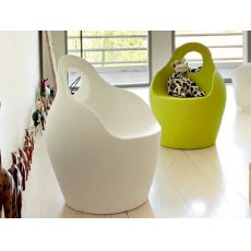 Babà JR - Domitalia armchair - pouf for kids in polyethylene, also for garden