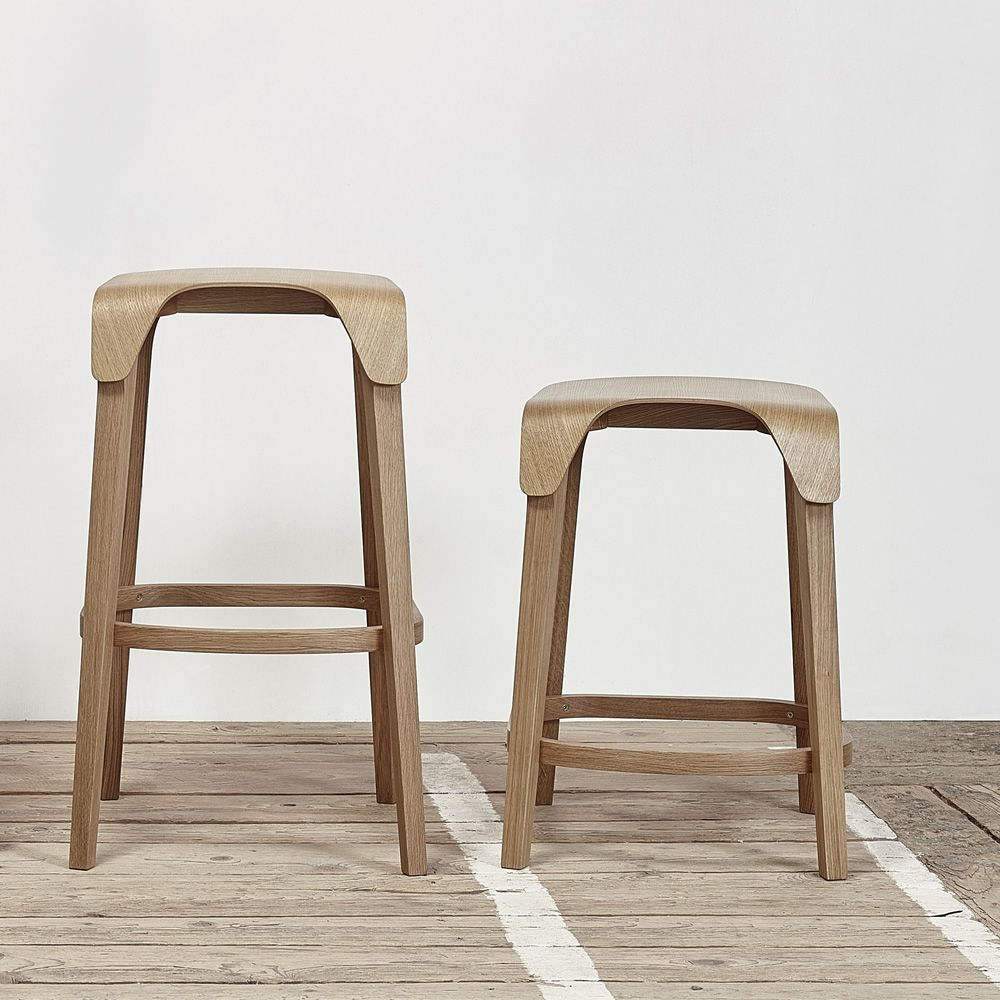 Design stool in oak wood, available in different dimensions