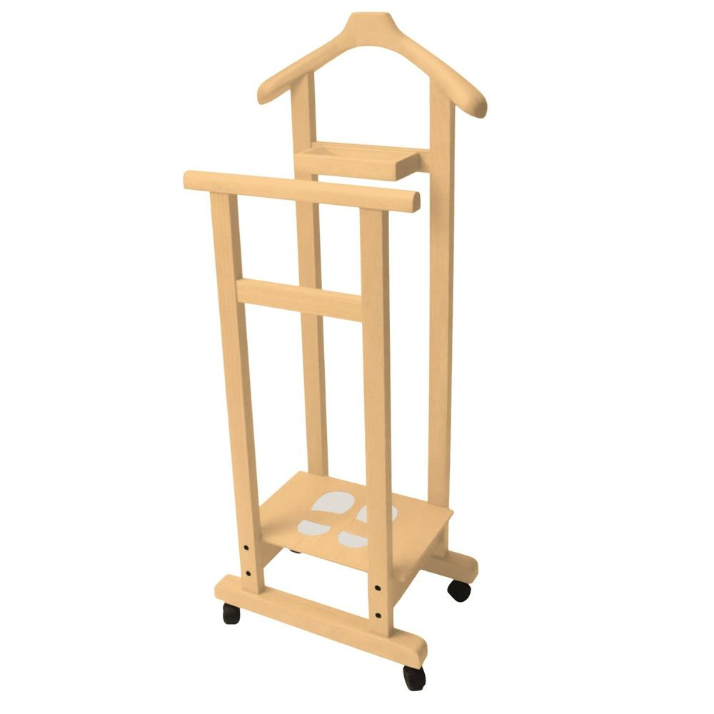 Valet Stand made of solid beech wood, natural colour
