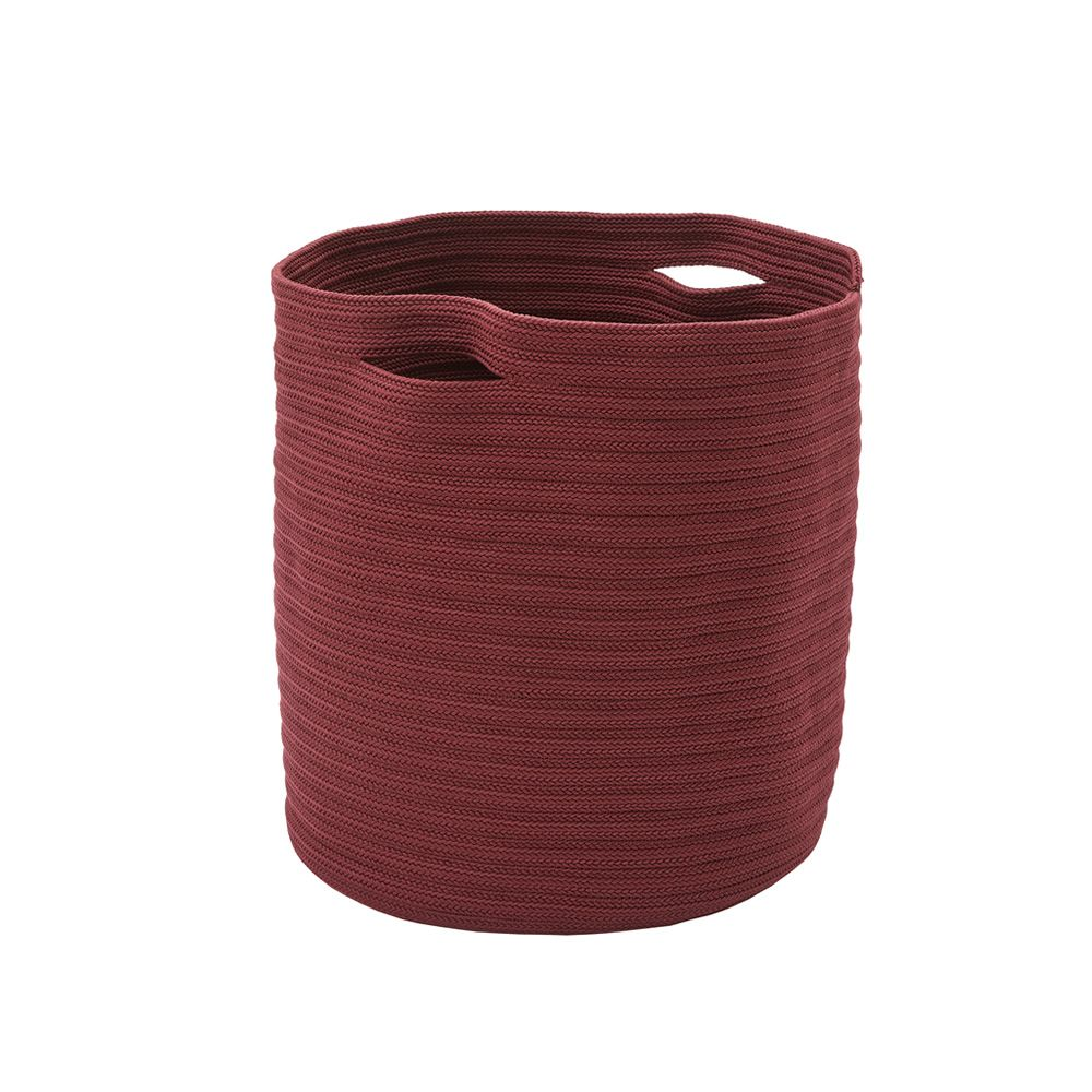 Basket pot plant for garden in fabric, red colour