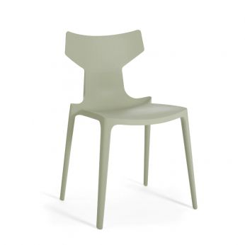 Re-Chair - Green coloured recycled polypropylene chair