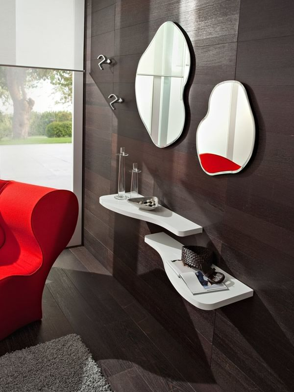 Design mirror matching with PA3051 mirror, in the PA305 composition for entrance hall