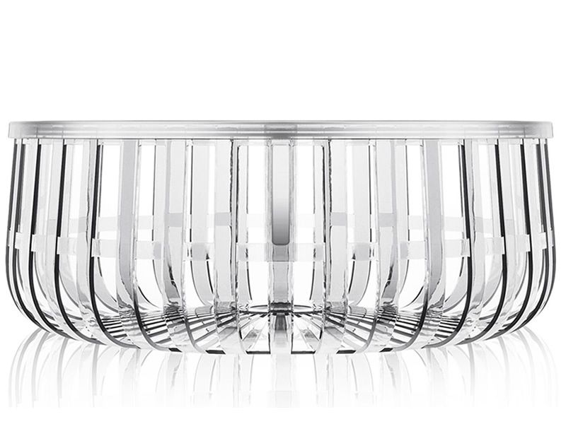 Design Kartell magazine rack-coffee table, transparent