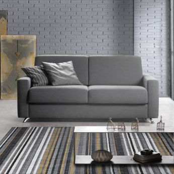 Giacinto - Sofa or sofa bed, totally removable covering, covering in Idra fabric (code: ID) in 601 colour - Large armrest