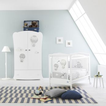 Bonnie Baby - Wooden cot in white lacquered