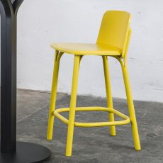 Split stool - Ton stool in wood, with wooden or padded seat, seat's height of 61 or 78 cm