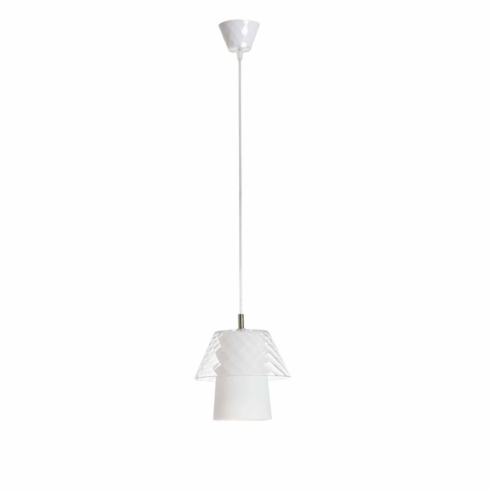 Lampe à suspension en méthacrylate transparent (dimension: S)