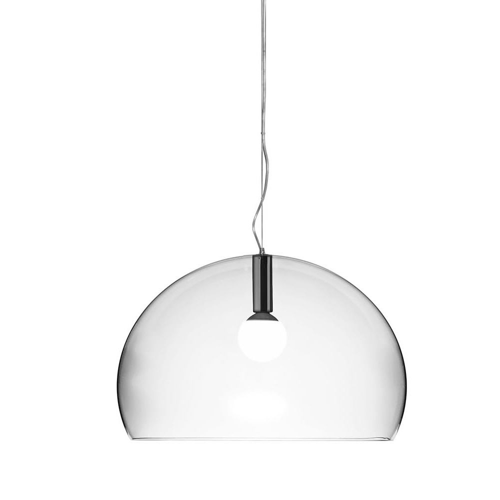Design Kartell suspension lamp, transparent polycarbonate
