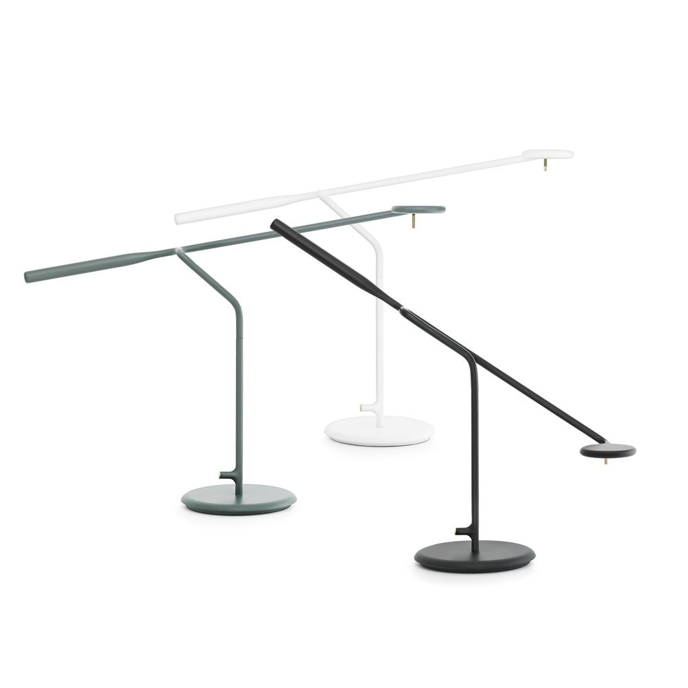 Table LED lamp made of steel, different colours available