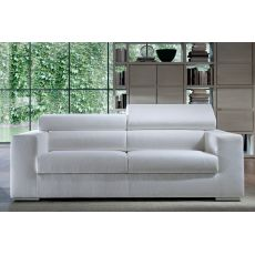 Gala - Sofa with reclining headrest, totally removable covering, available in several colours and sizes