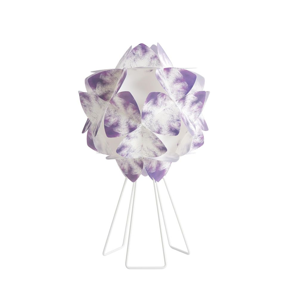 Sandylex and metal table lamp, purple colour