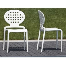 Colette 2283 - Modern technopolimery chair, several colours, stackable and also for outdoor