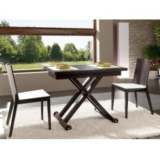 Roma - Idealsedia table in wood, 107x70 cm, extending and with adjustable height