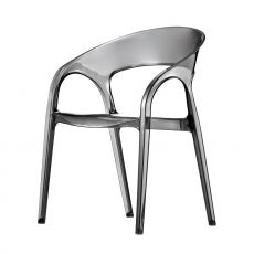 Gossip 620 - Pedrali design chair with armrest, in polycarbonate, stackable