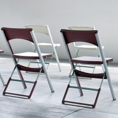Compact - Outdoor folding chair, in metal and technopolymer