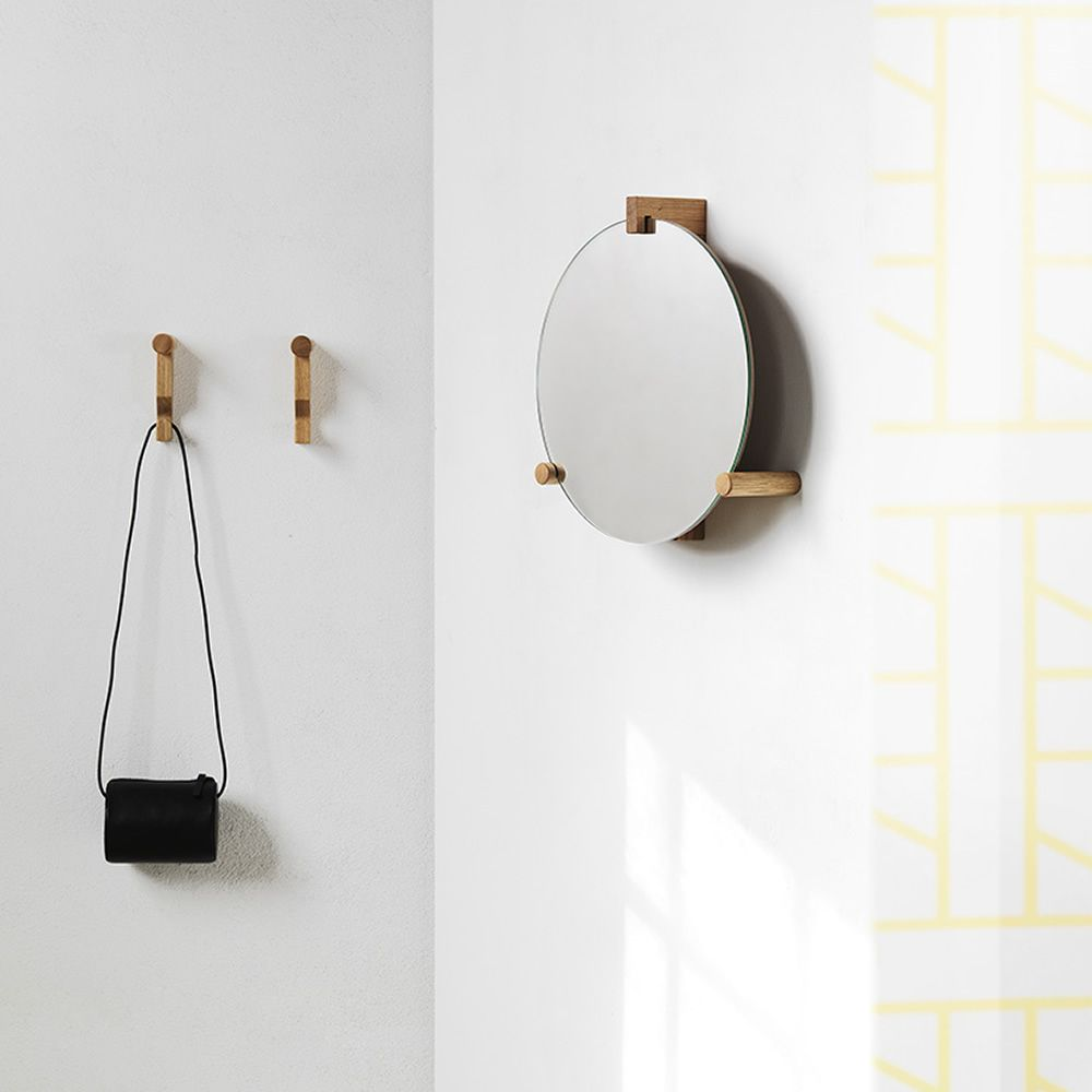 Wooden wall coat hook, matched with June mirror