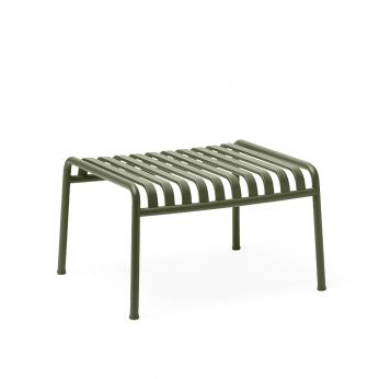 Palissade Ottoman - Olive green painted steel outdoor coffee table