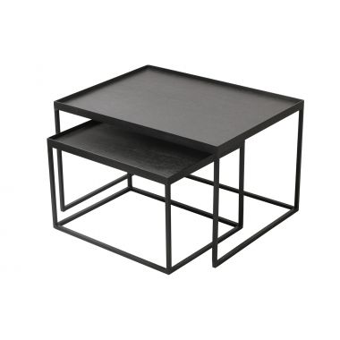 Rectangle tray coffee table set