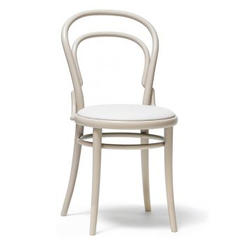 Chair 14 R - Design chair in lacquered wood, with padded seat