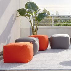 Archimede Promo - Pouf for garden, in fabric