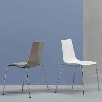 Zebra Tecno 2615 - Modern chair with metal frame and technopolymer shell