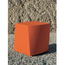 Boom - Pouf in polyethylene for garden, or padded, available in several colours