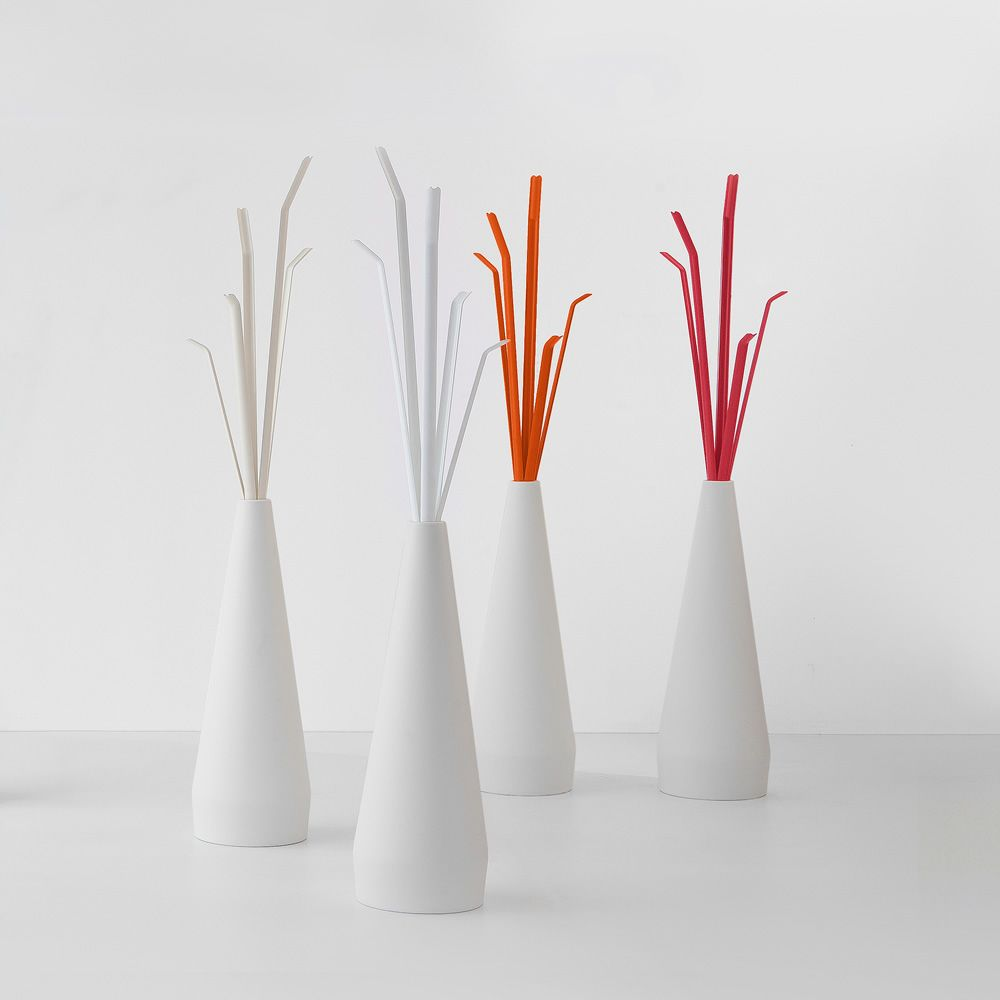 Bonaldo coat stand made of polyethylene and mat painted metal, available in a variety of colours