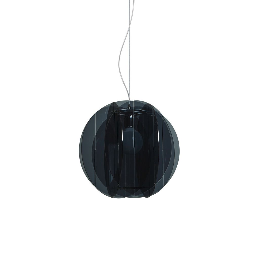 Pendant lamp made of methacrylate in smoke grey colour (size: M)