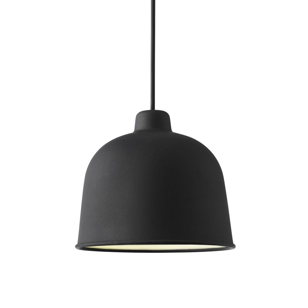 Pendant lamp made of bamboo, black colour