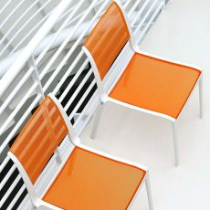 Open-RS - Design Emu metal chair, seat and backrest in metal net