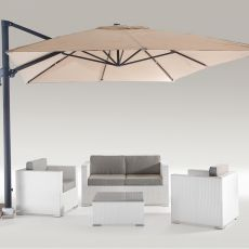 Chimera - Outdoor set, in aluminium and polyethylene imitation rattan, in different colours