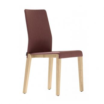 Dalton 662 - Modern wooden chair with padded seat, fabric covering