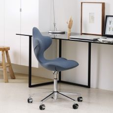 Active - Variér® Active™ chair, height-adjustable with swivelling metal frame, padded seat