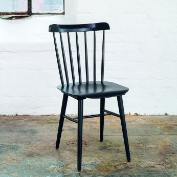 Ironica F - Design chair in black stained beech wood