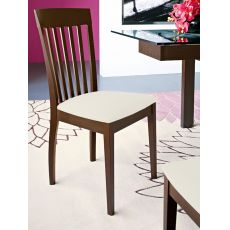 CS243 Corte - Connubia Calligaris wooden chair, seat covered with fabric