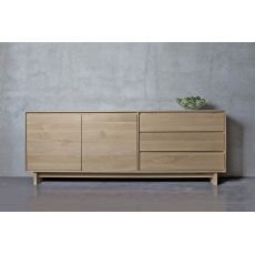 Wave - Ethnicraft wooden sideboard with doors and drawers, different sizes available