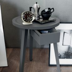 Gray 45 - Gervasoni side table-bedside table, in solid wood, with drawer, available in different dimensions