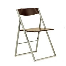 Icon - Domitalia folding metal chair, seat and backrest in multilayer