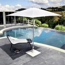 Shade B - Parasol de design, con base central de aluminio