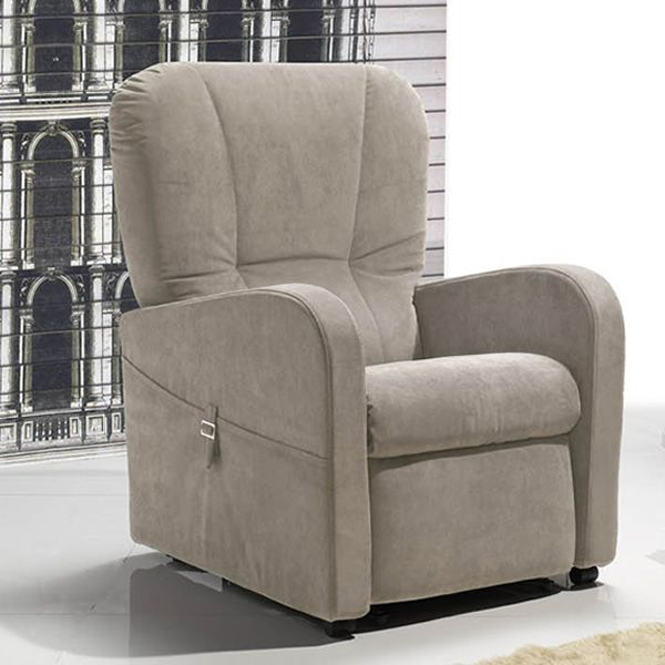 Electric and adjustable relax armchair with Lift mechanism, different upholsteries and colours available, totally removable covering, also with Roller system and massage kit (size: S)