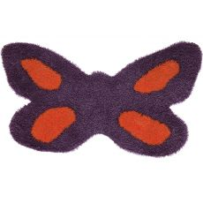 Butterfly - Coloured rug in the shape of a flower - different colours