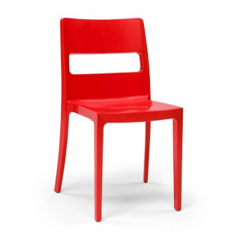 Sai 2275 RIG - Stackable chair in red colour