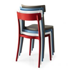 CB1523 Argo - Bar chair in polypropylene, stackable, available in several colours, also for outdoor