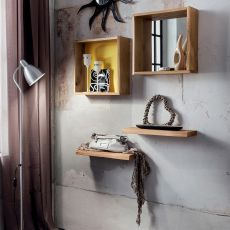 PA622 - Modern entrance including shelves, mirror and hangers